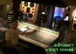 Producer Sam Gibson at the mixing desk
